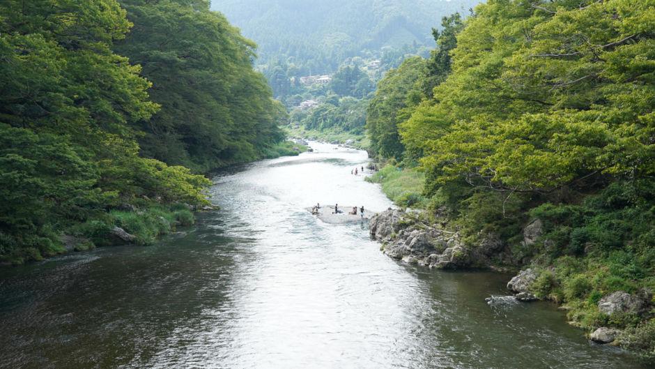 Tama River in Summer in Okutama Tokyo; Shutterstock ID 1479157397; Purchase Order: ANA 2019 SP2