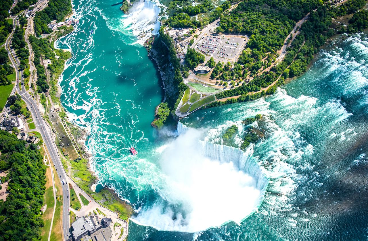 Aerial view of Niagara