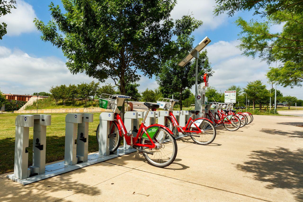 Bikes in rack