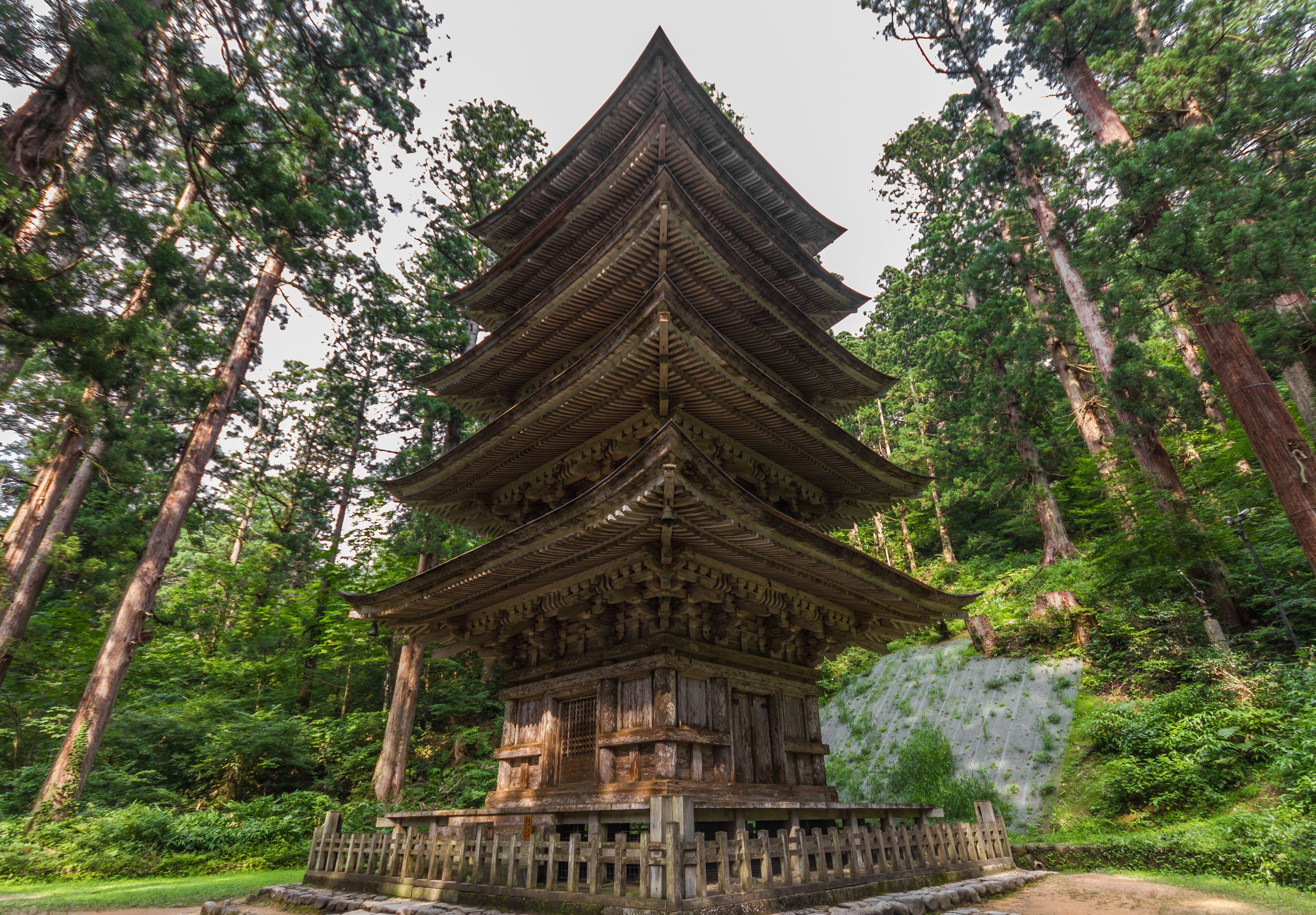 Five story pagoda in Japan