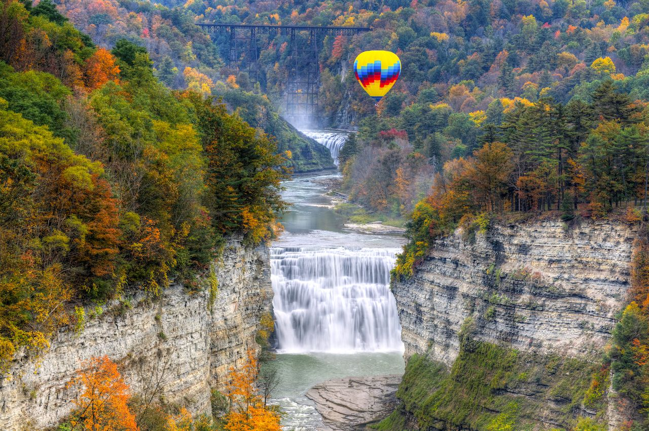 Hot air balloon, Letchworth State Park in New York