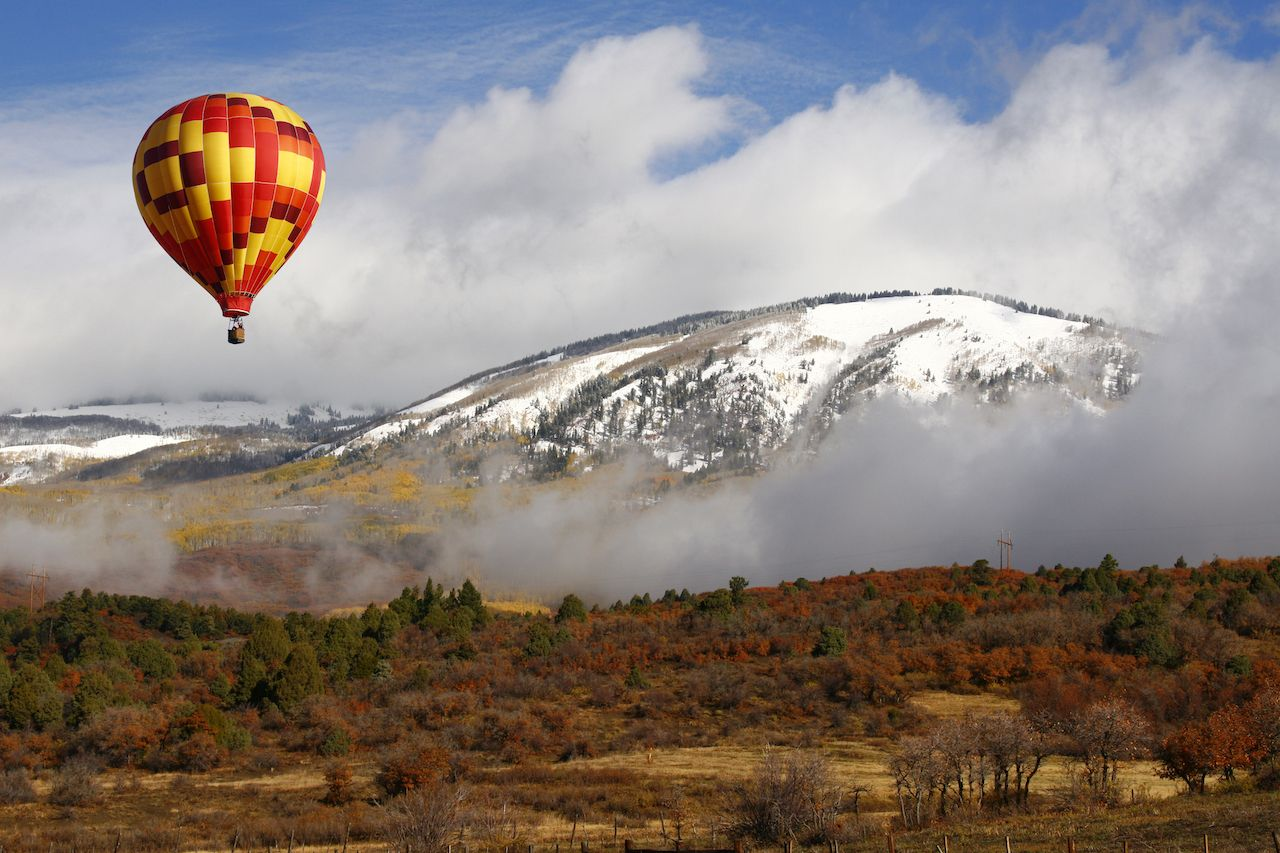 Hot air balloon in Colorado