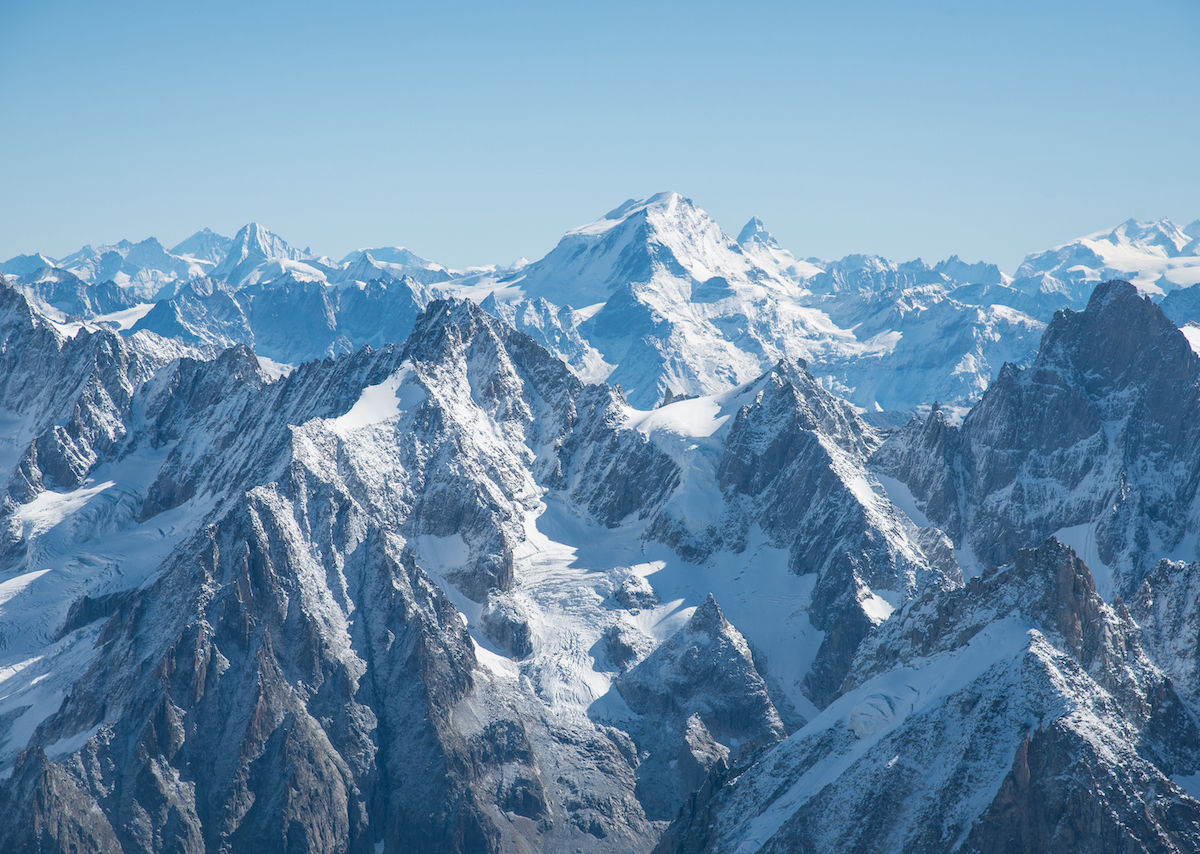 Gletscher Mont Blanc