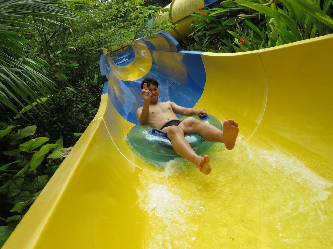 Person on waterslide