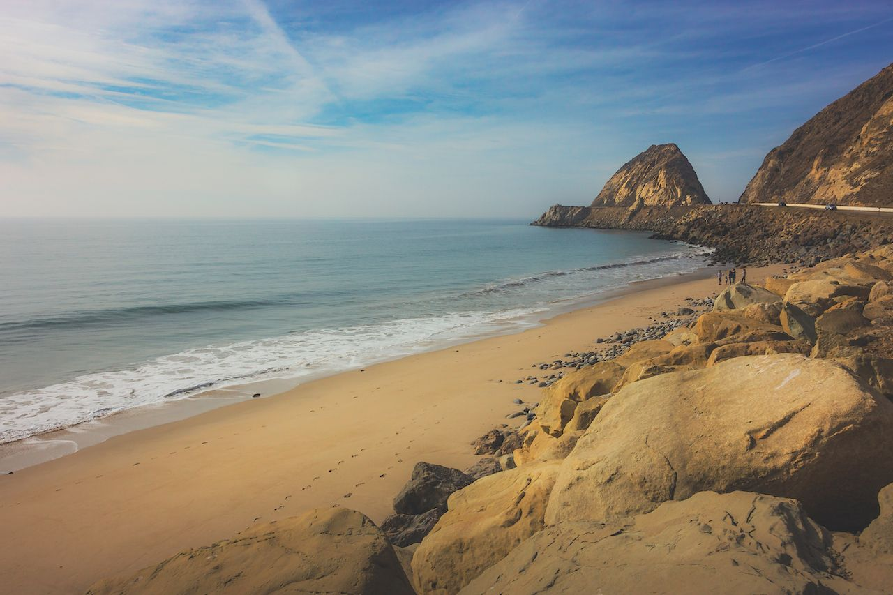 Point Mugu Rock along Pacific Coast Highway, Point Mugu, California