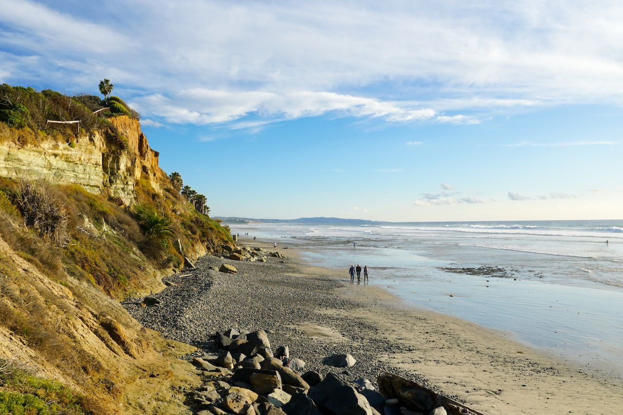 San Elijo State Beach, Encinitas, San Diego, California.
