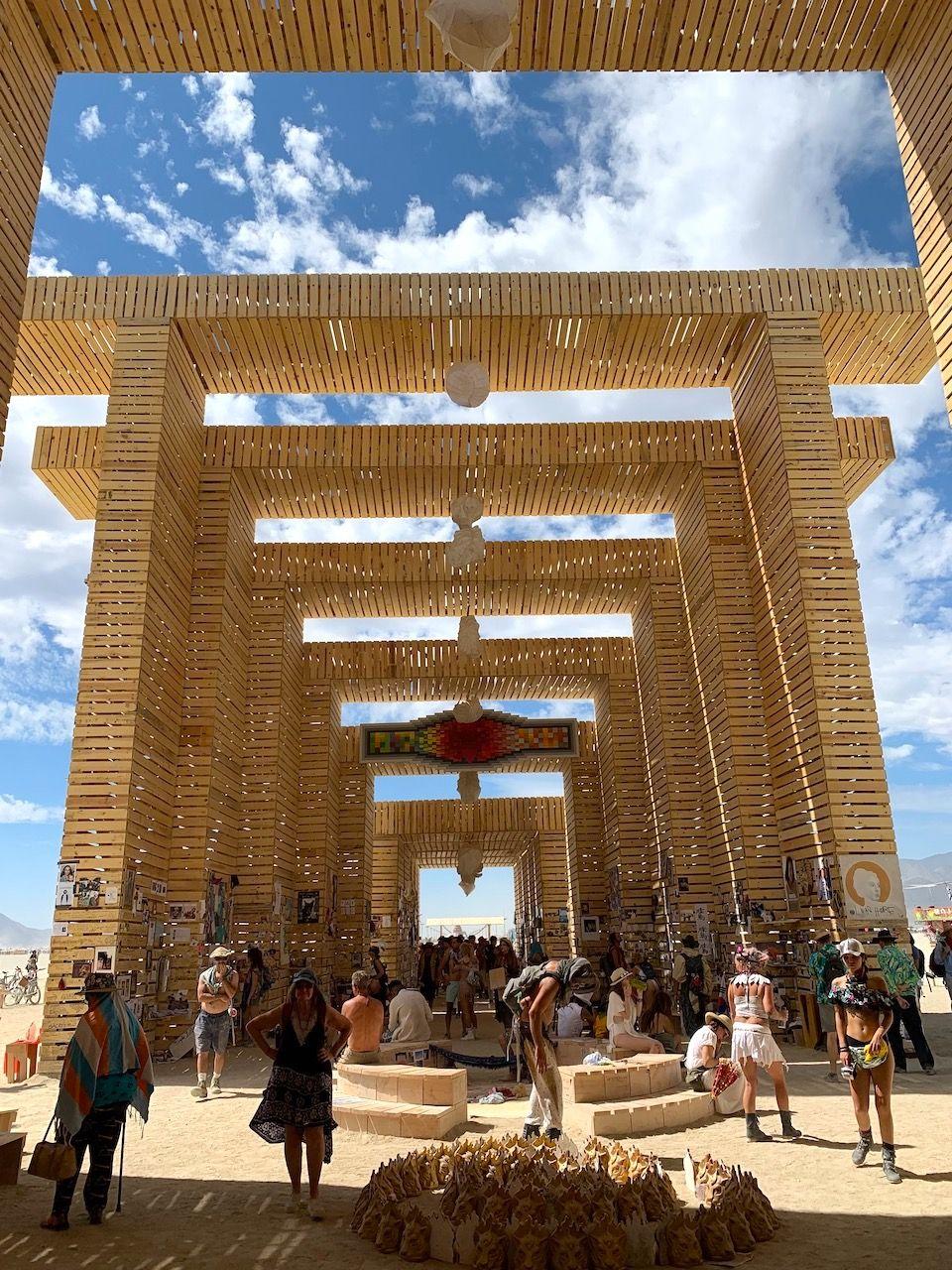 Temple of Direction Art installation Burning Man 2019
