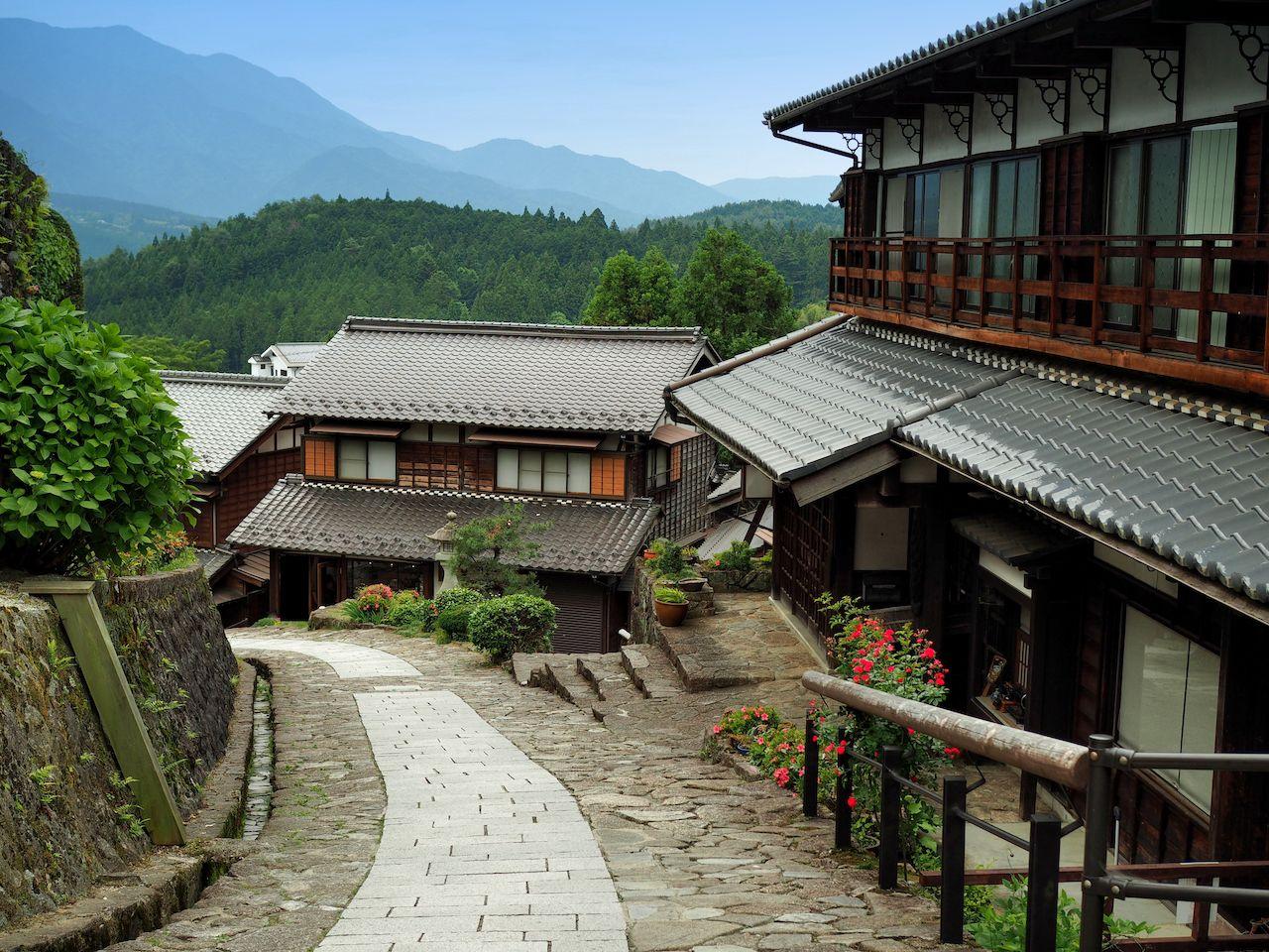 town near Tsumago-juku village