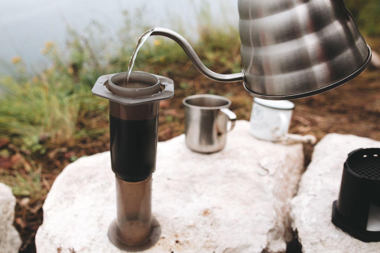 Brewing alternative coffee while camping