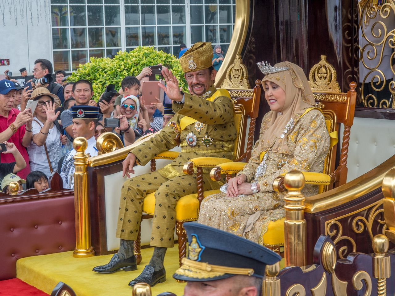 Brunei's Sultan marked 50 years on the throne with a glittering procession