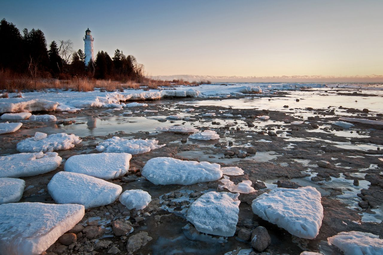 Cana Island Lighthouse in Door County, Wisconsin