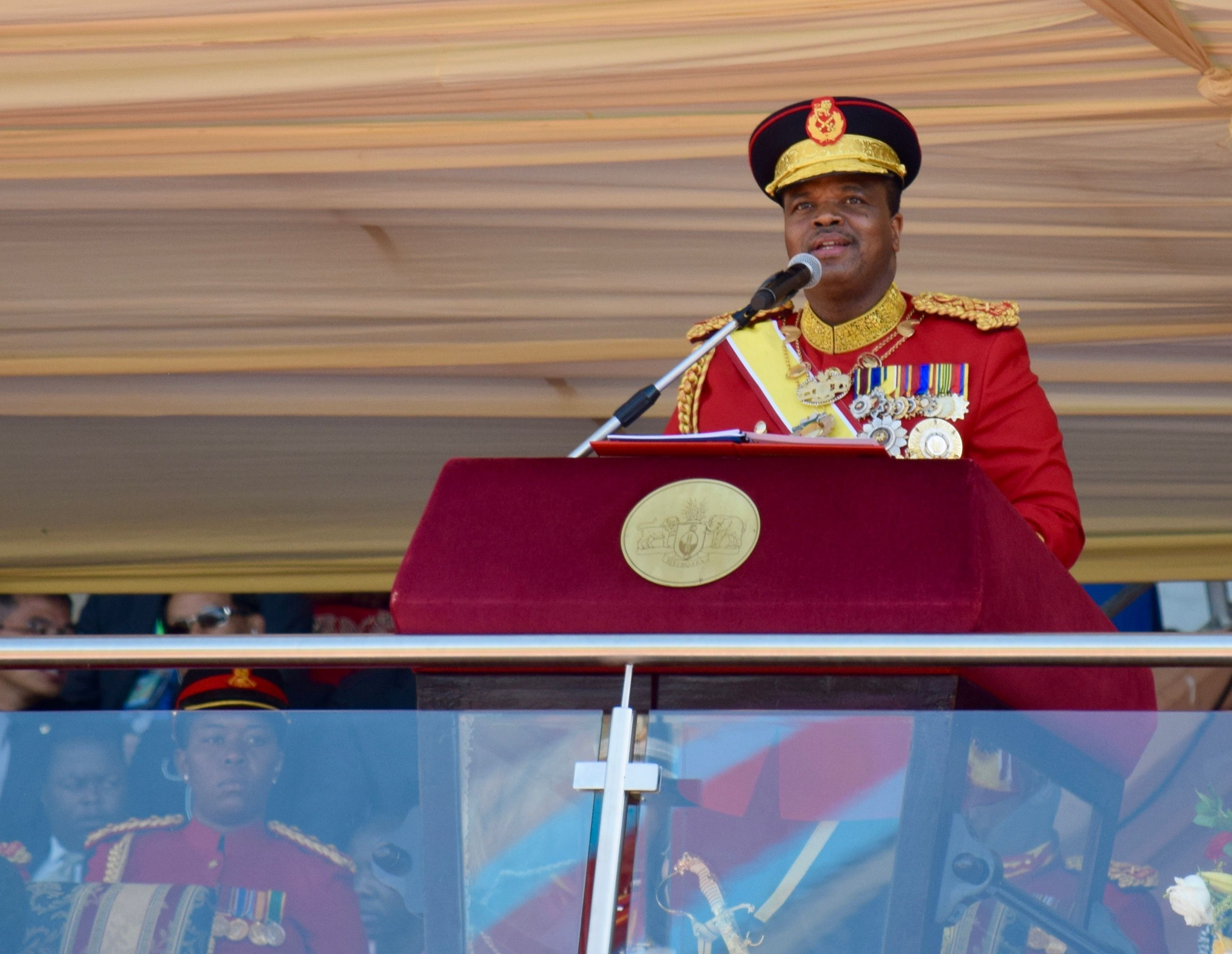 King Mswati III announcing that he will change Swaziland's name to the Kingdom of eSwatini
