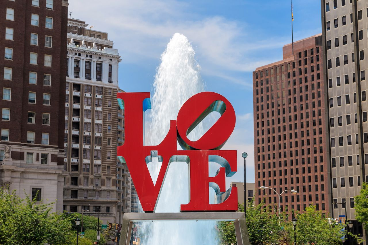 LOVE sculpture in Philly
