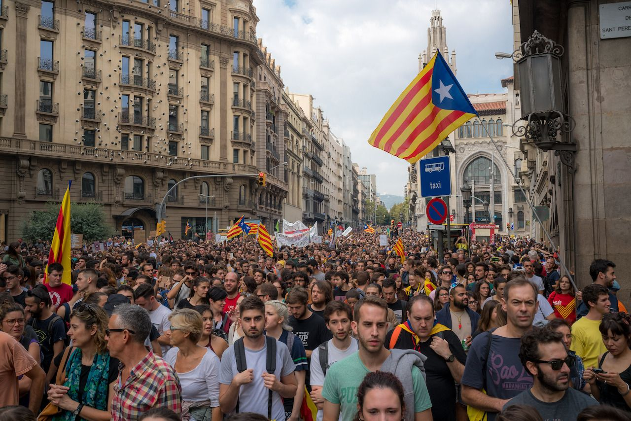 Barcelona independence protests