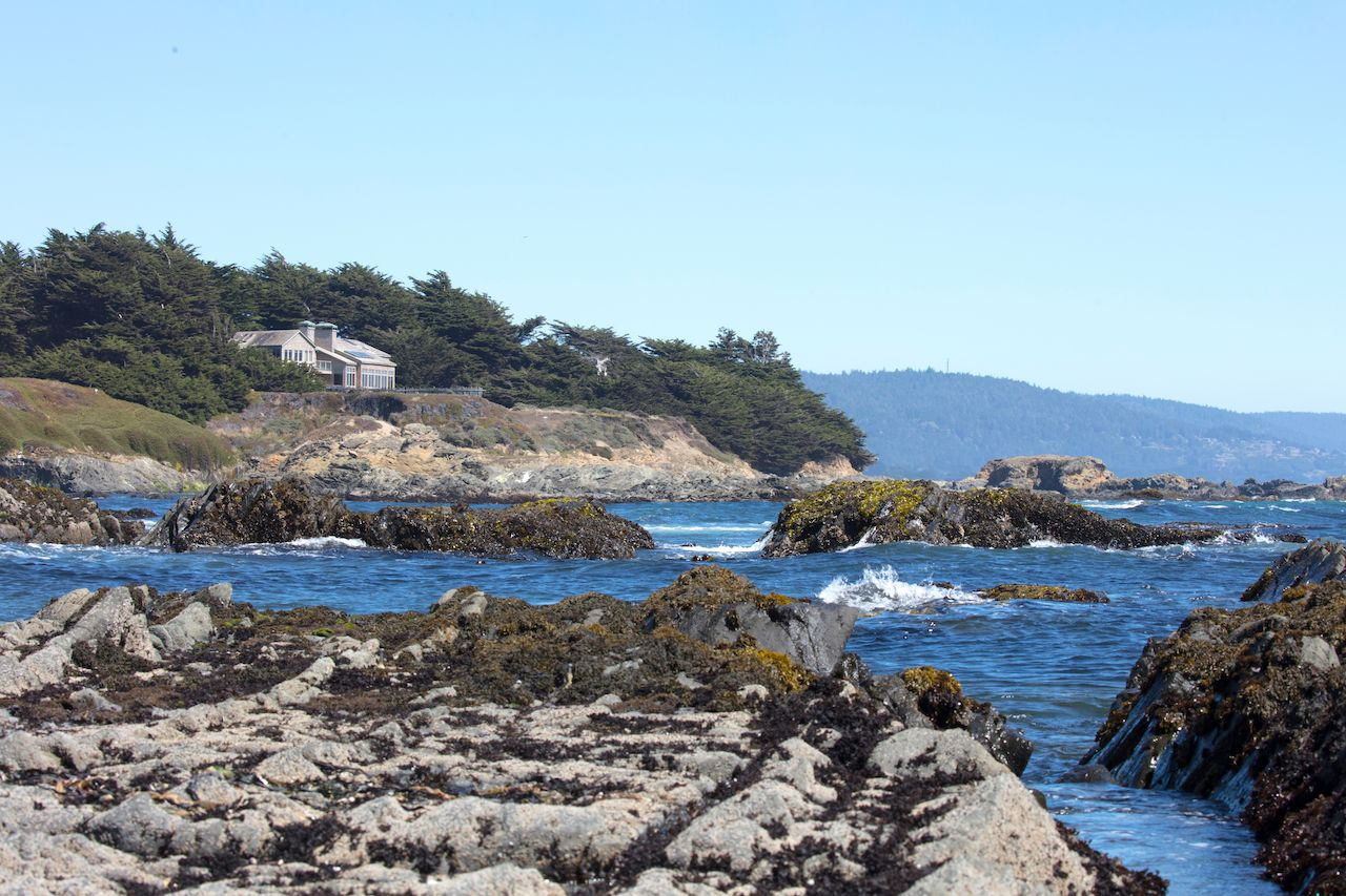 Rocky coastline at Sea Ranch, California