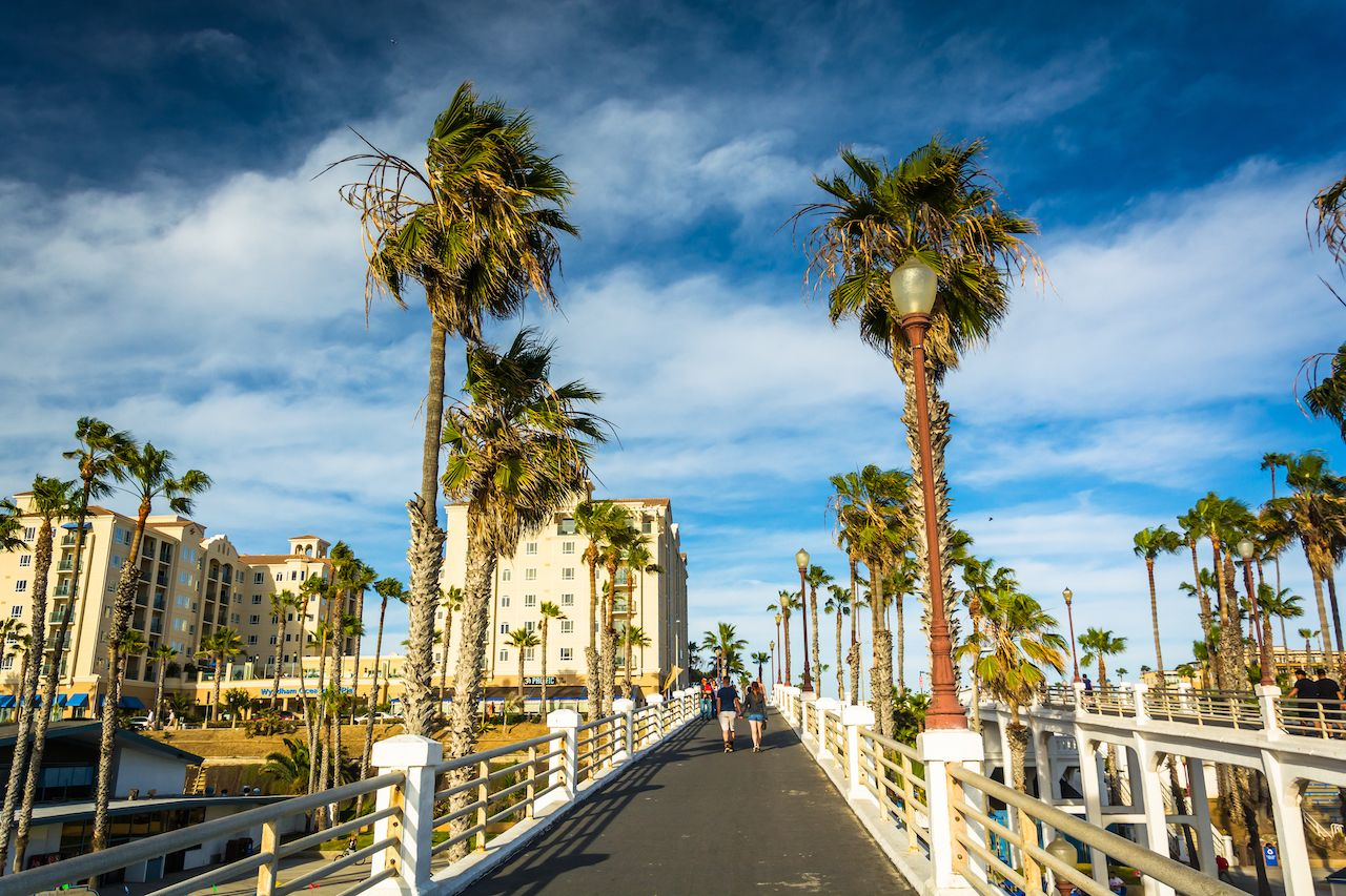 Walkway to the pier, in Oceanside, Californi