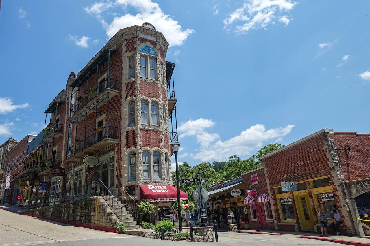 flatiron building in Eureka Springs