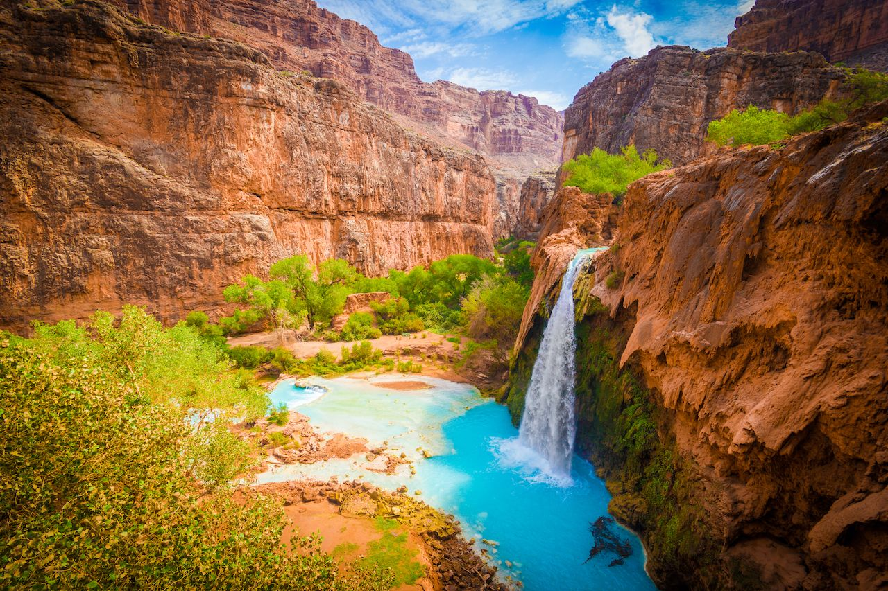 Grand Canyon, Havasupai Indian Reservation, amazing havasu falls in Arizona instagrammed waterfalls
