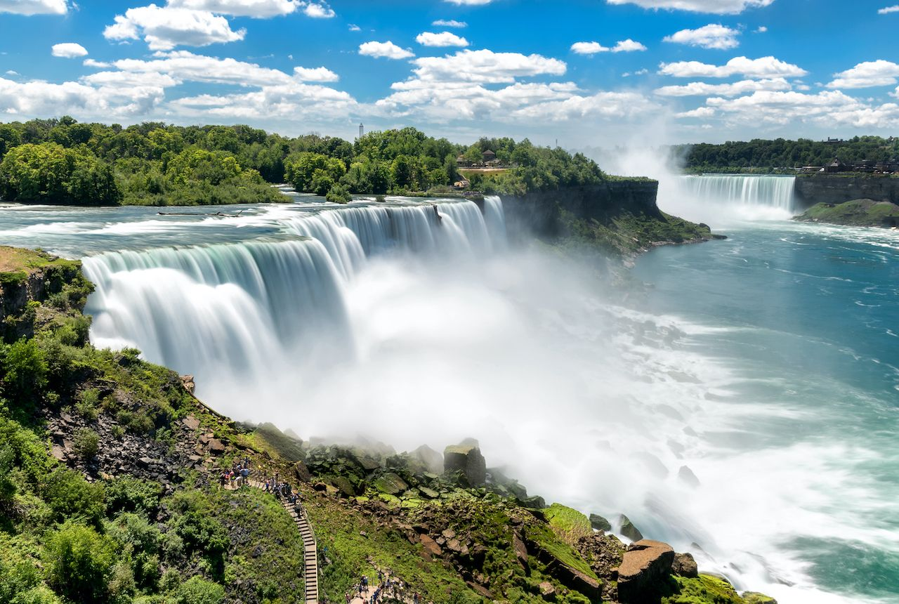 Niagara falls between United States of America and Canada. most instagrammed waterfalls