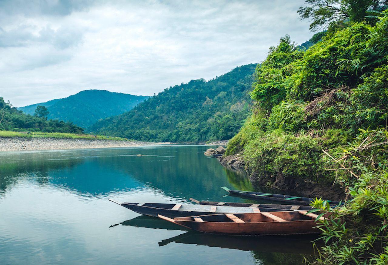 A beautiful landscape of Umngot river
