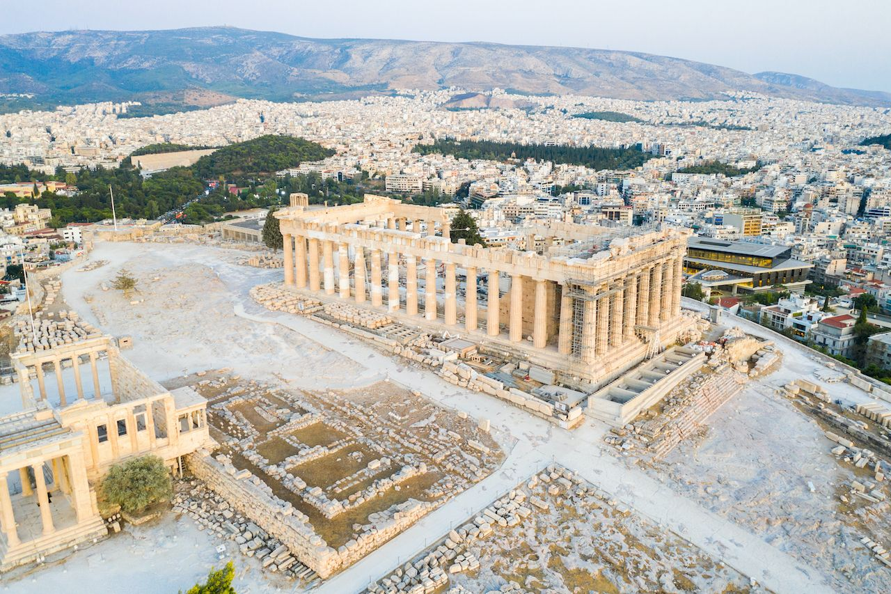 Aerial view of the Acropolis