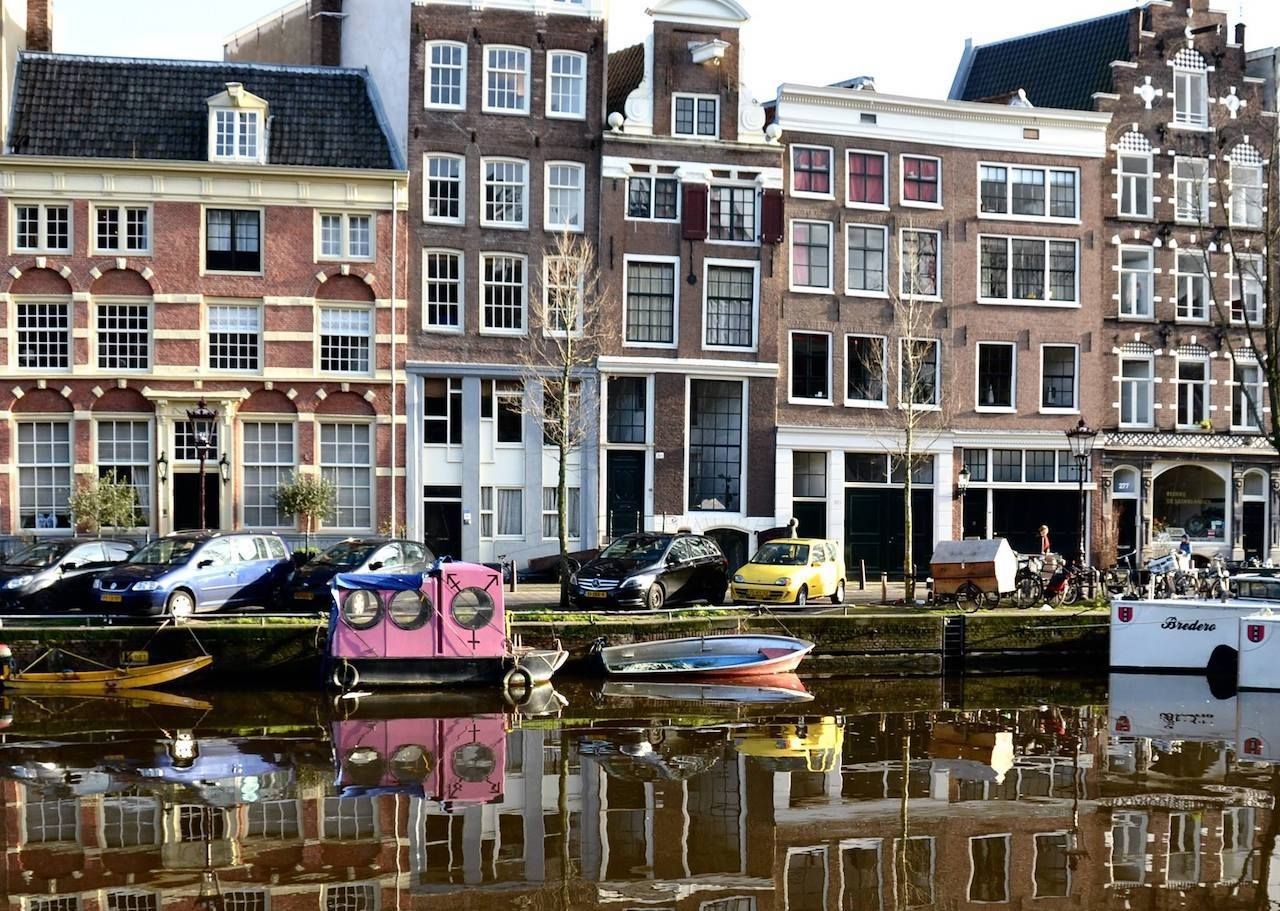 Amsterdam canals and buildings