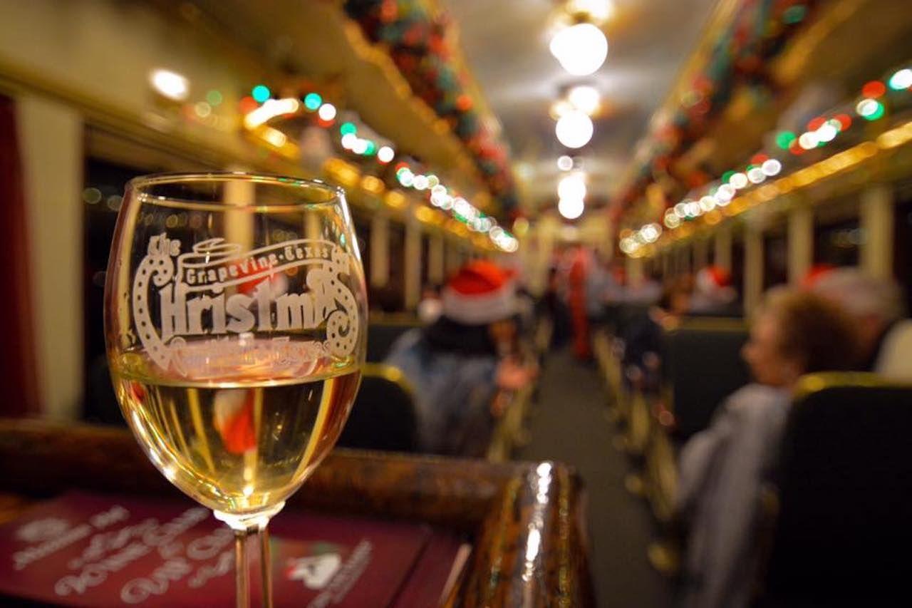 Glass on wine train