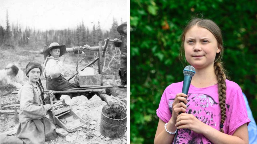 This photo of a Greta Thunberg look-alike from 1898 is fueling speculation that she's a time traveler