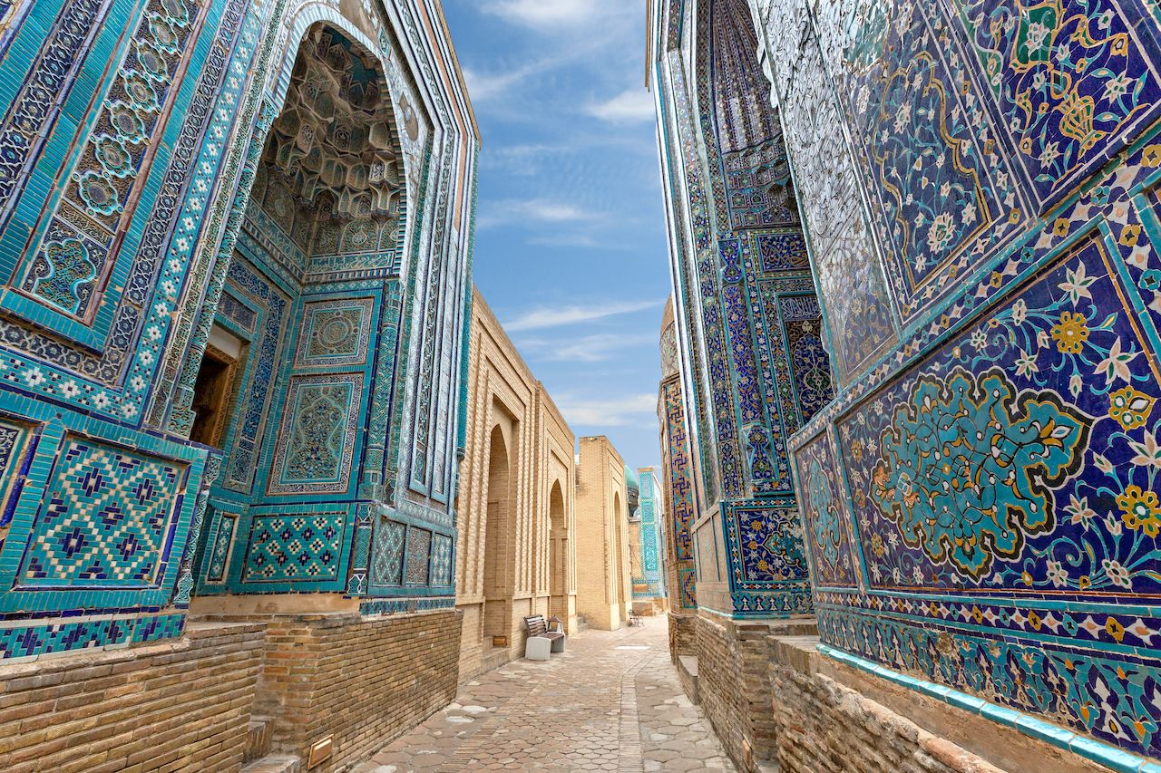 Historical necropolis and mausoleums of Shakhi Zinda, Samarkand