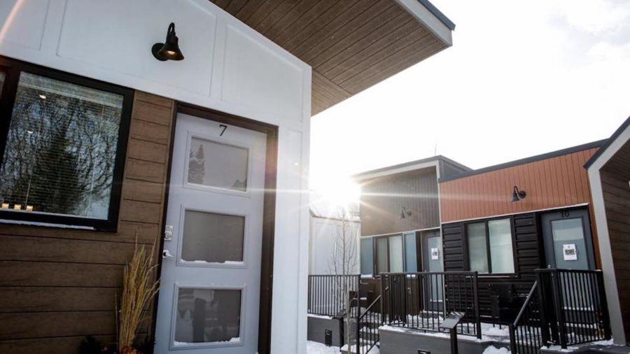 Calgary built a tiny home village for homeless veterans