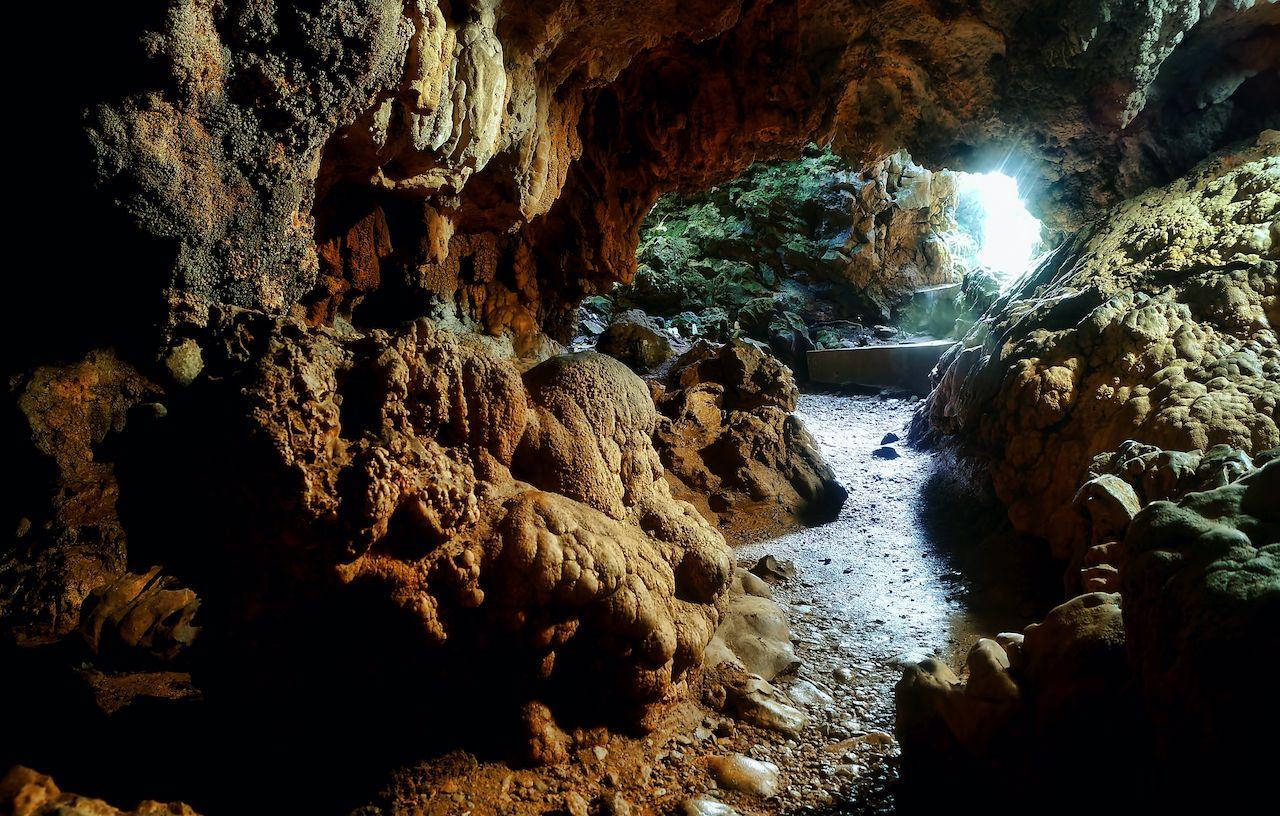 Interiors of the popular Mawsmai caves at Meghalaya
