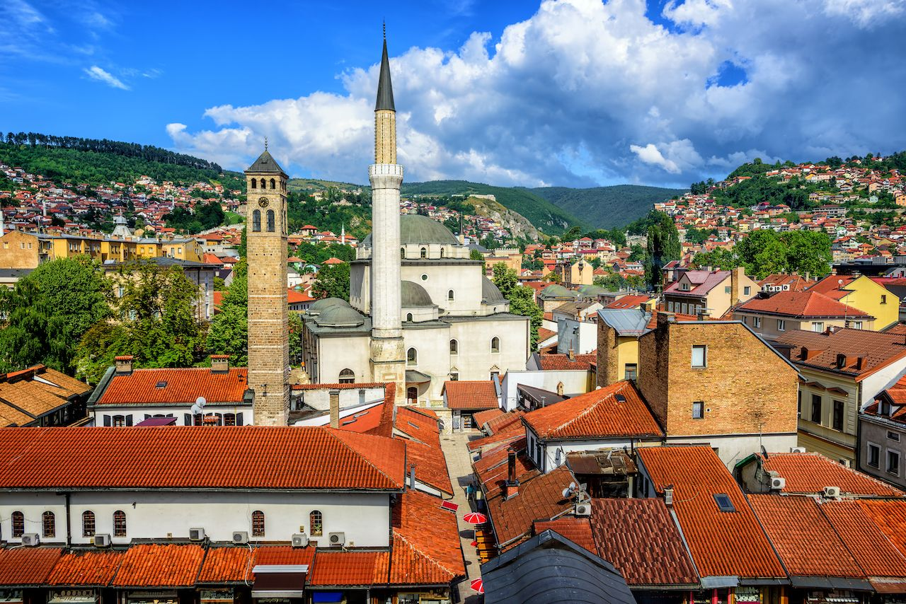 Old Town of Sarajevo with Gazi Husrev-beg Mosque