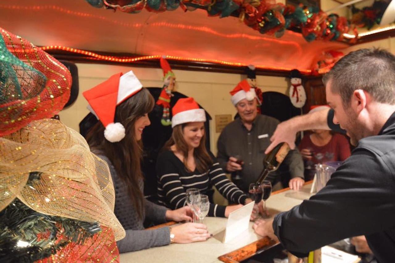 People on the wine train