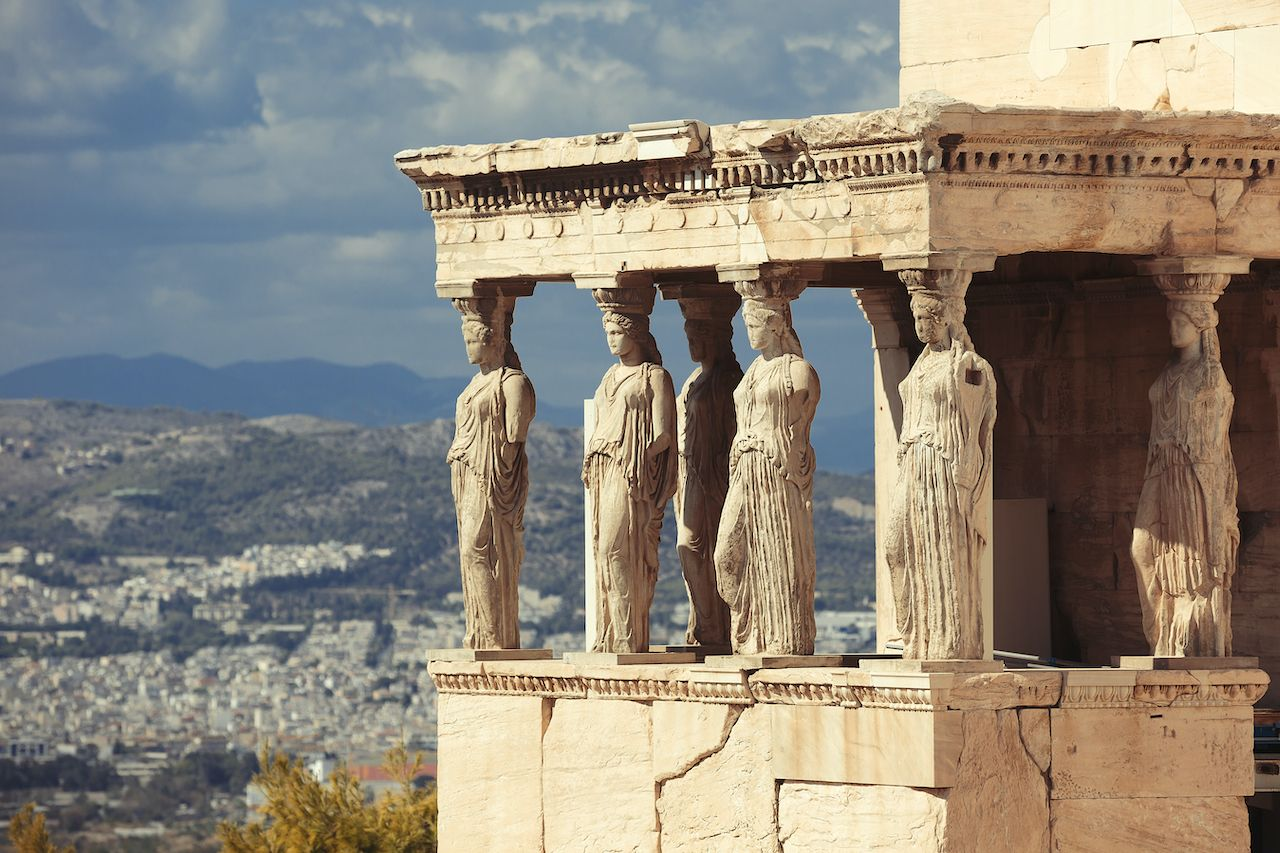 Porch of the Caryatids at Erechtheion temple