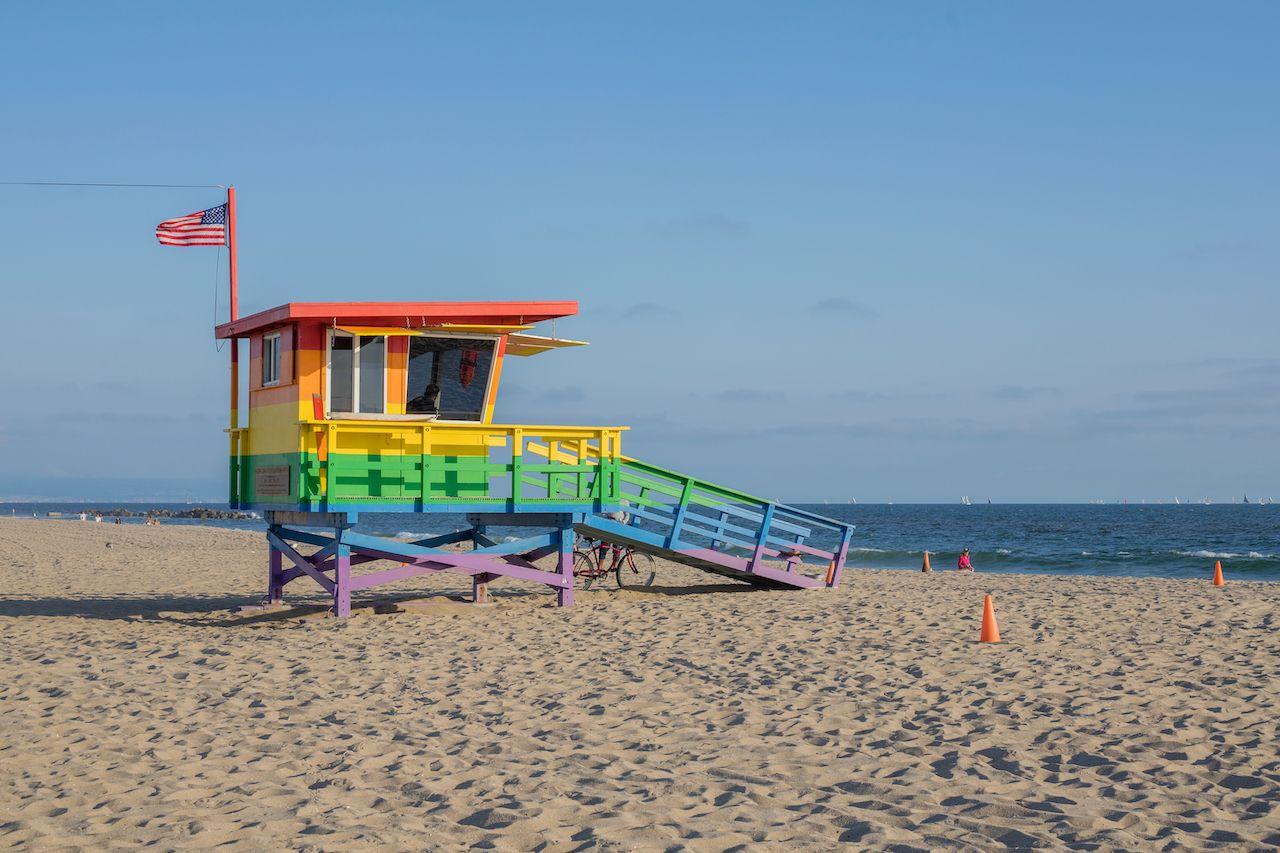 Rainbow lifeguard stand