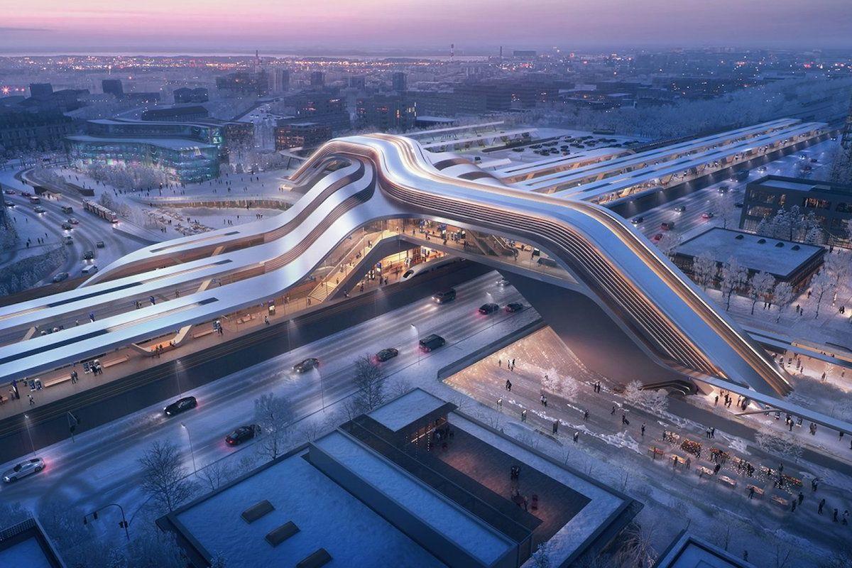 Tallinn is getting a futuristic train station to welcome the new high-speed Rail Baltica