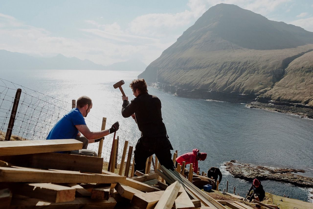 Volunteers on Faroe Islands