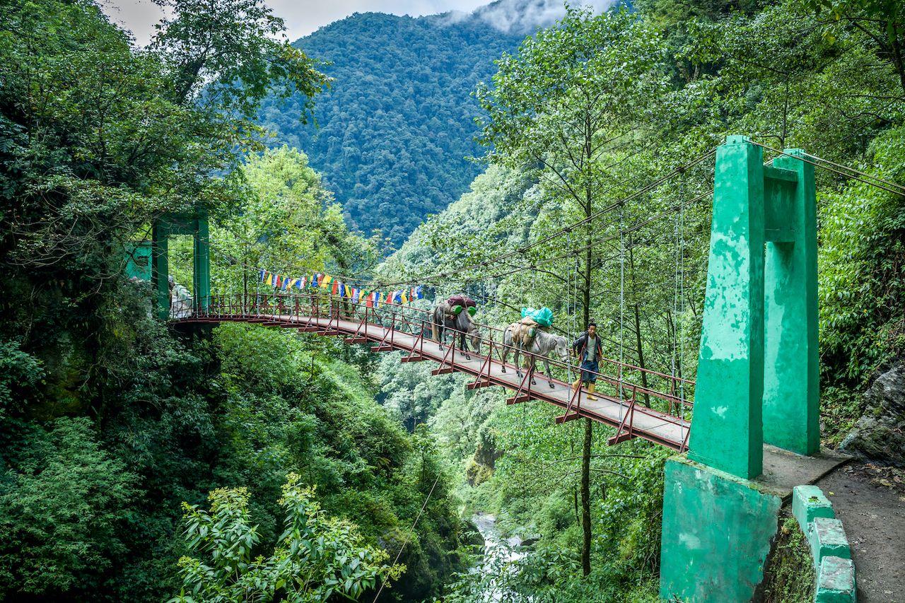 first bridge from Yuksom to Sachen over Pha Khola