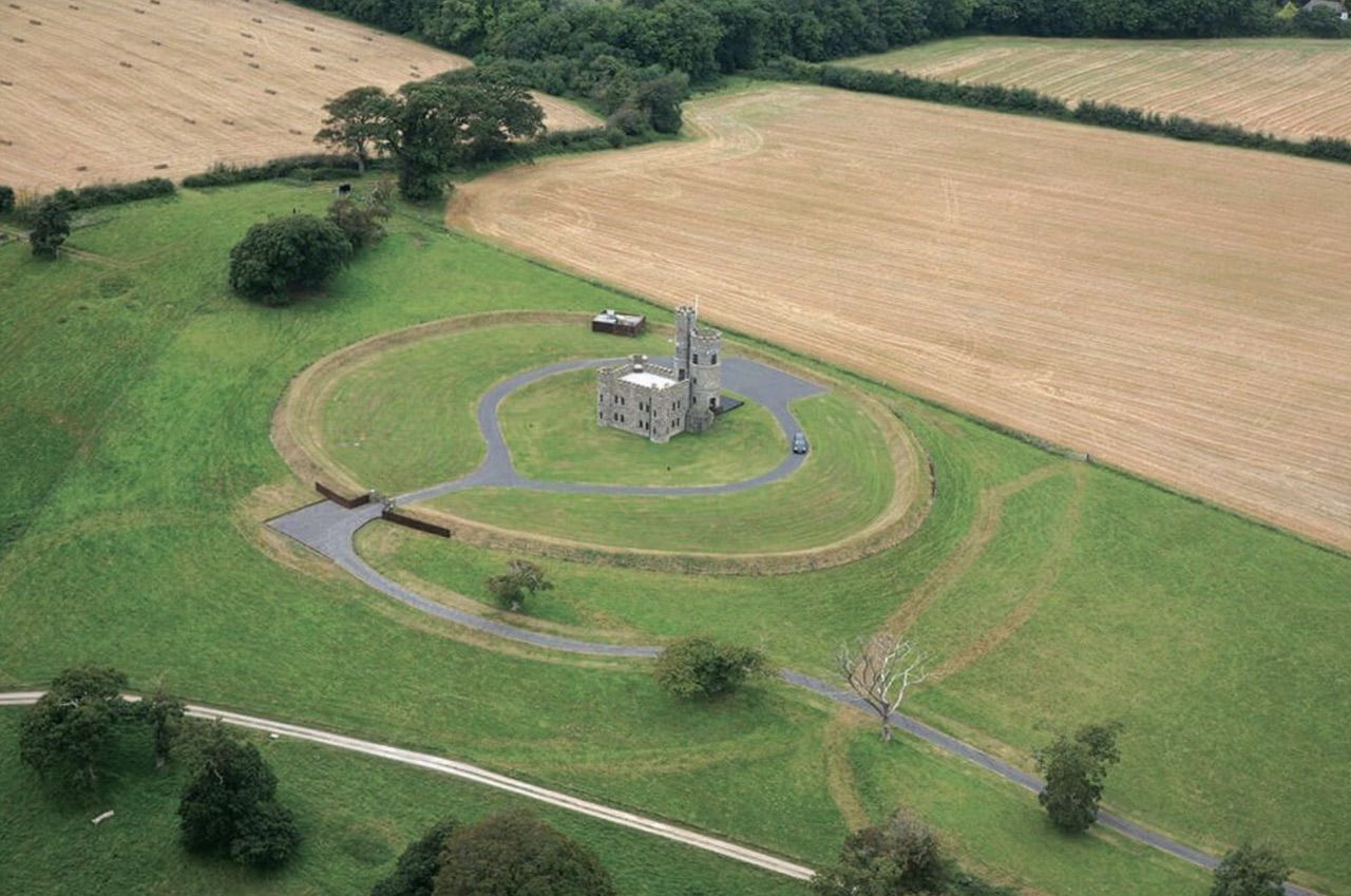 Aerial view of Tawstock Castle