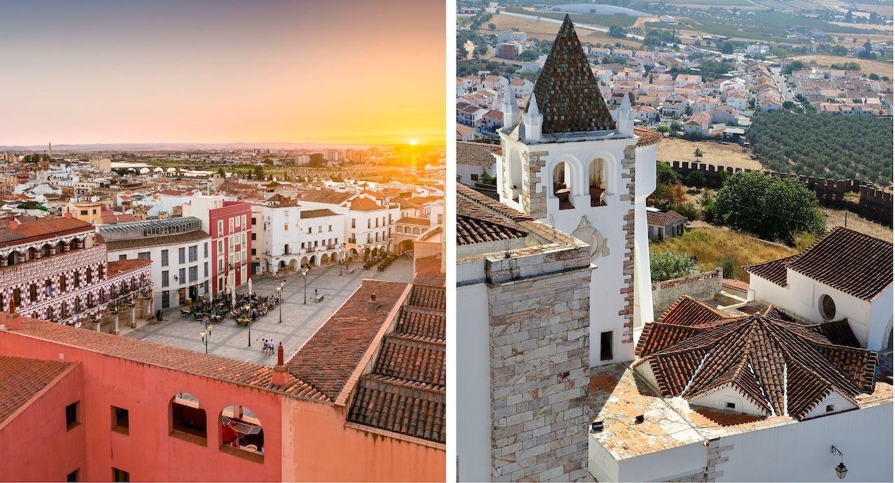 Badajoz Spain and Estremoz portugual