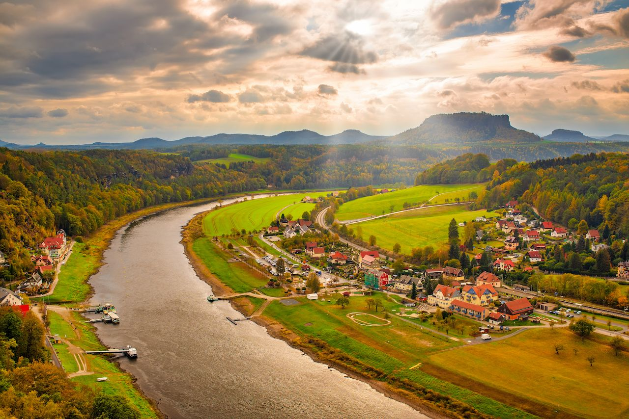 Elbe valley in the Saxon Switzerland