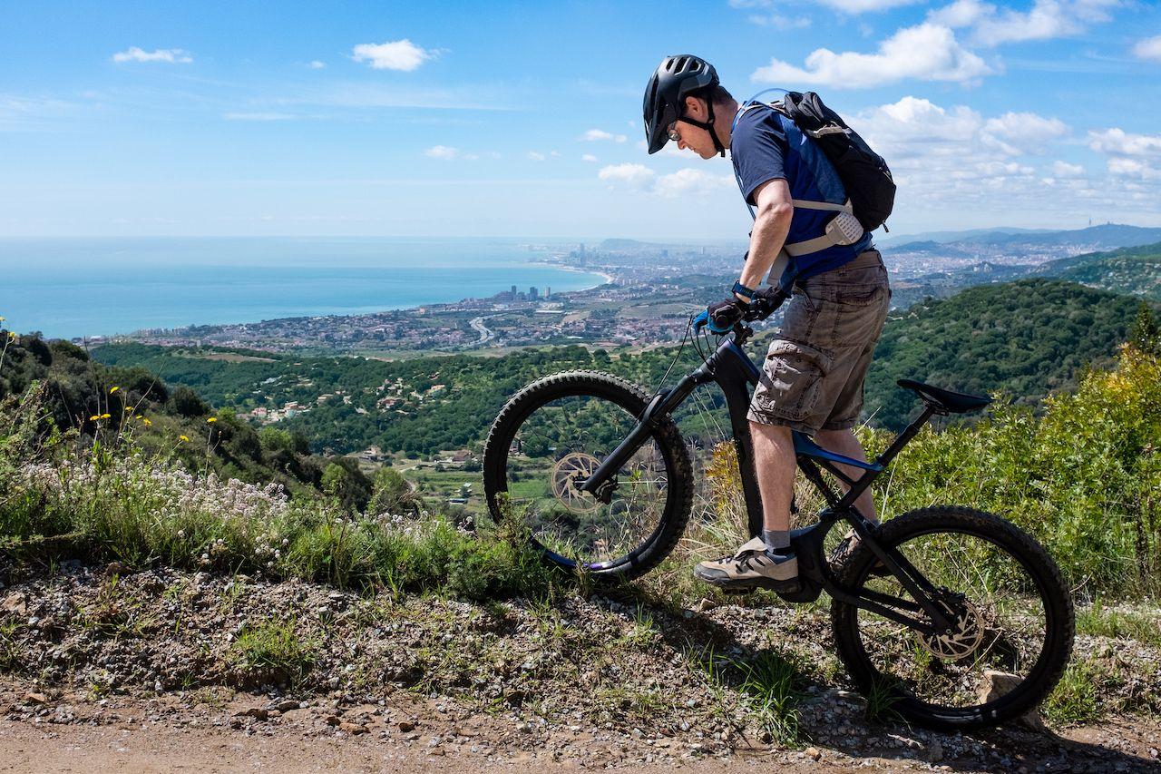 Electric mountain biking