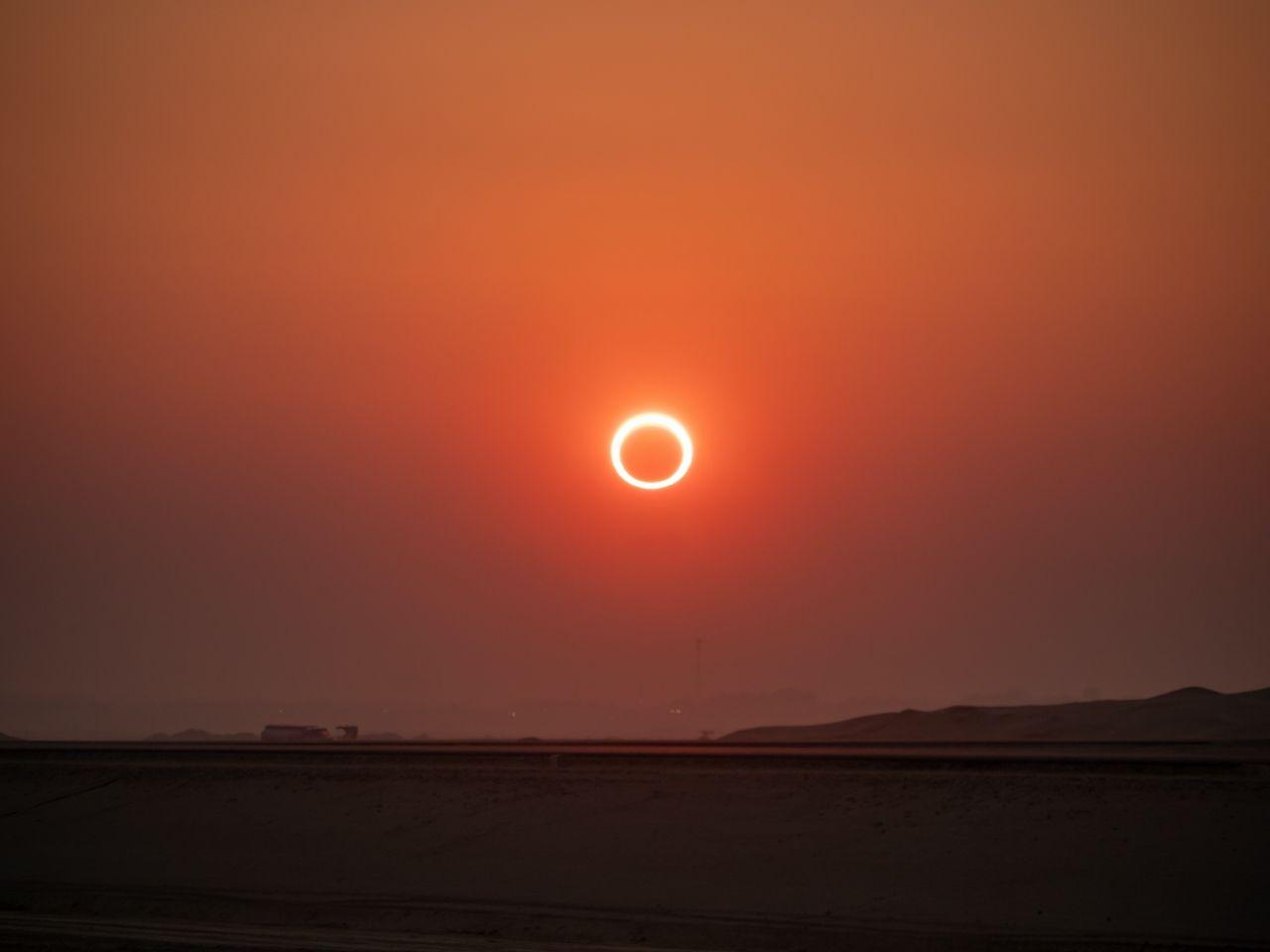 Solar eclipse, Saudi Arabia