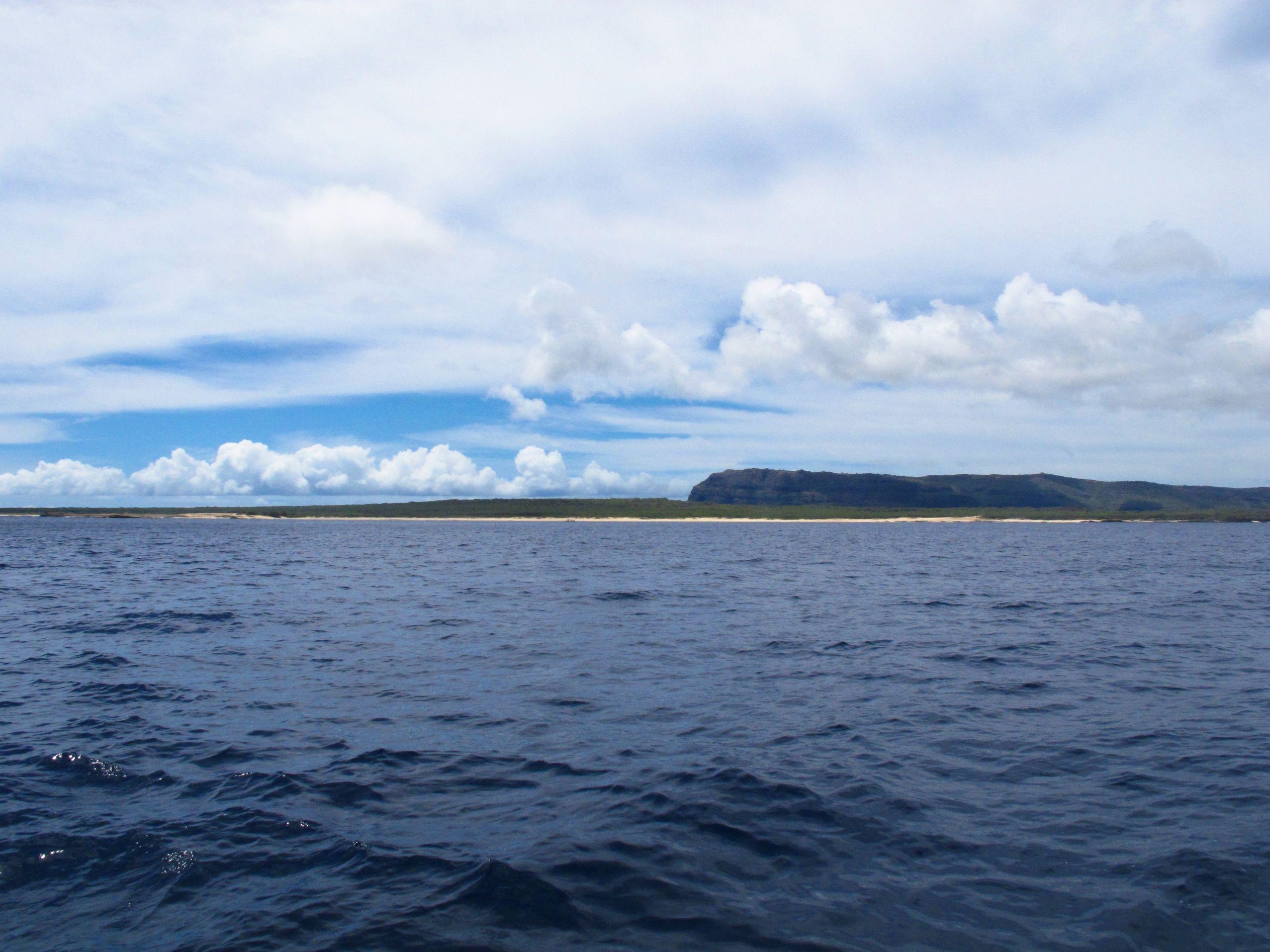 The remote shoreline of Niihau, Hawaii