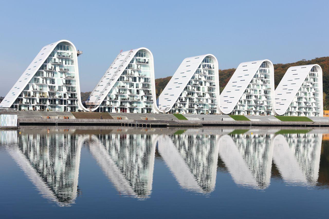 Wave building, Denmark