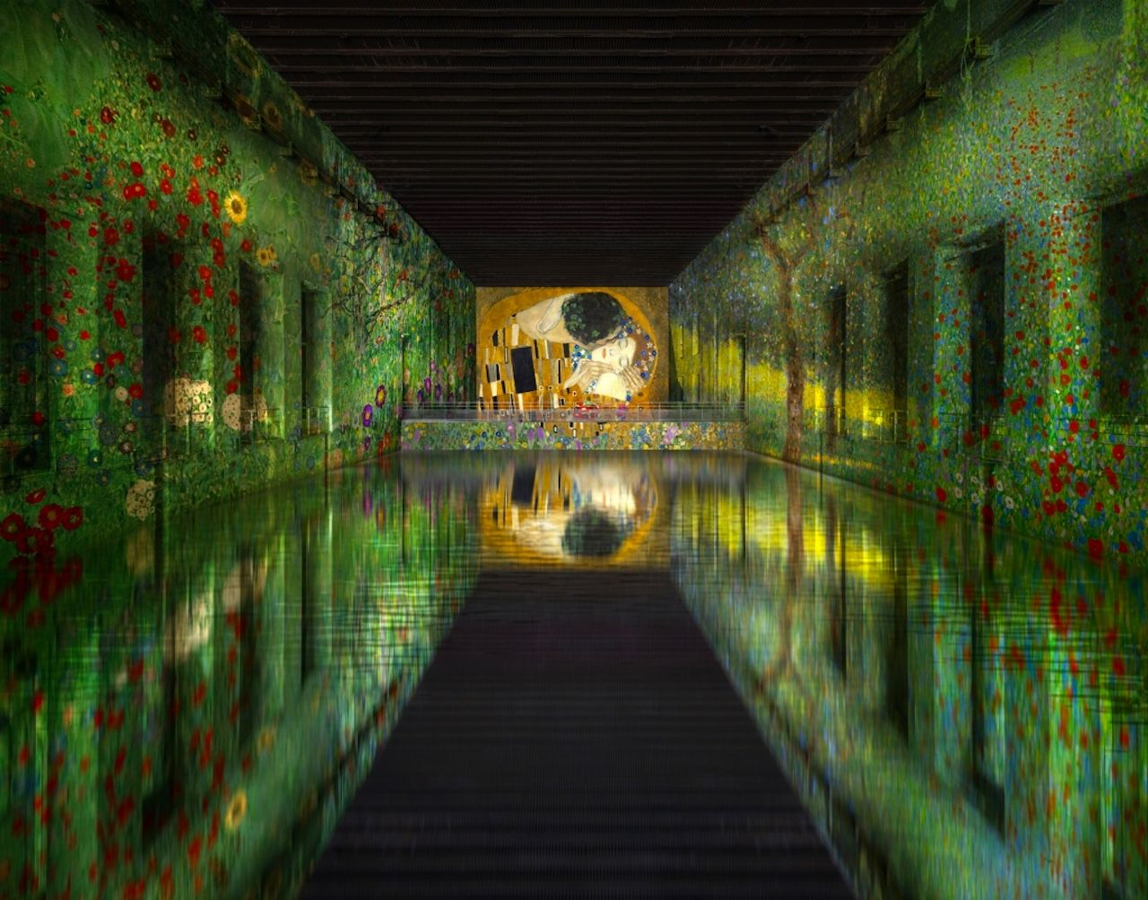 WWII submarine base turned into digital art museum