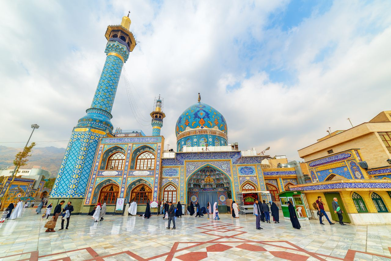 view of Imamzadeh Saleh at Shemiran district, Iran