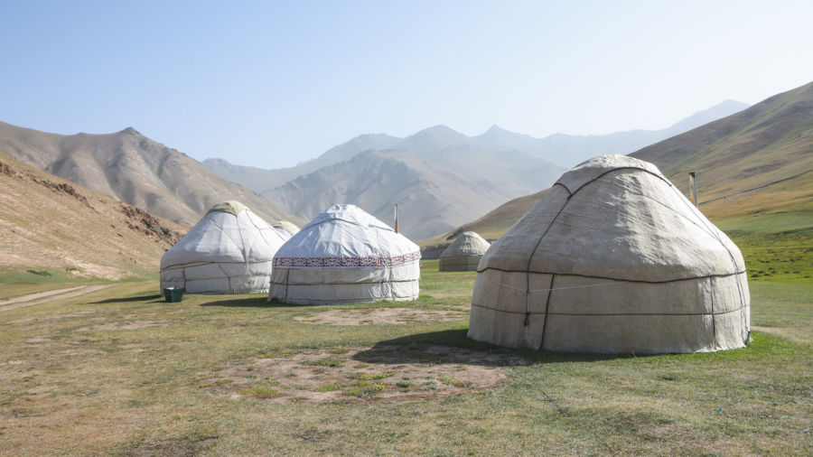 The traditional Central Asian dwelling is a majestic piece of temporary architecture