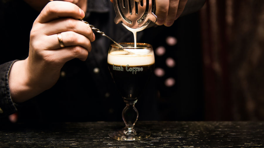The difference between Irish Coffee in Ireland and the United States