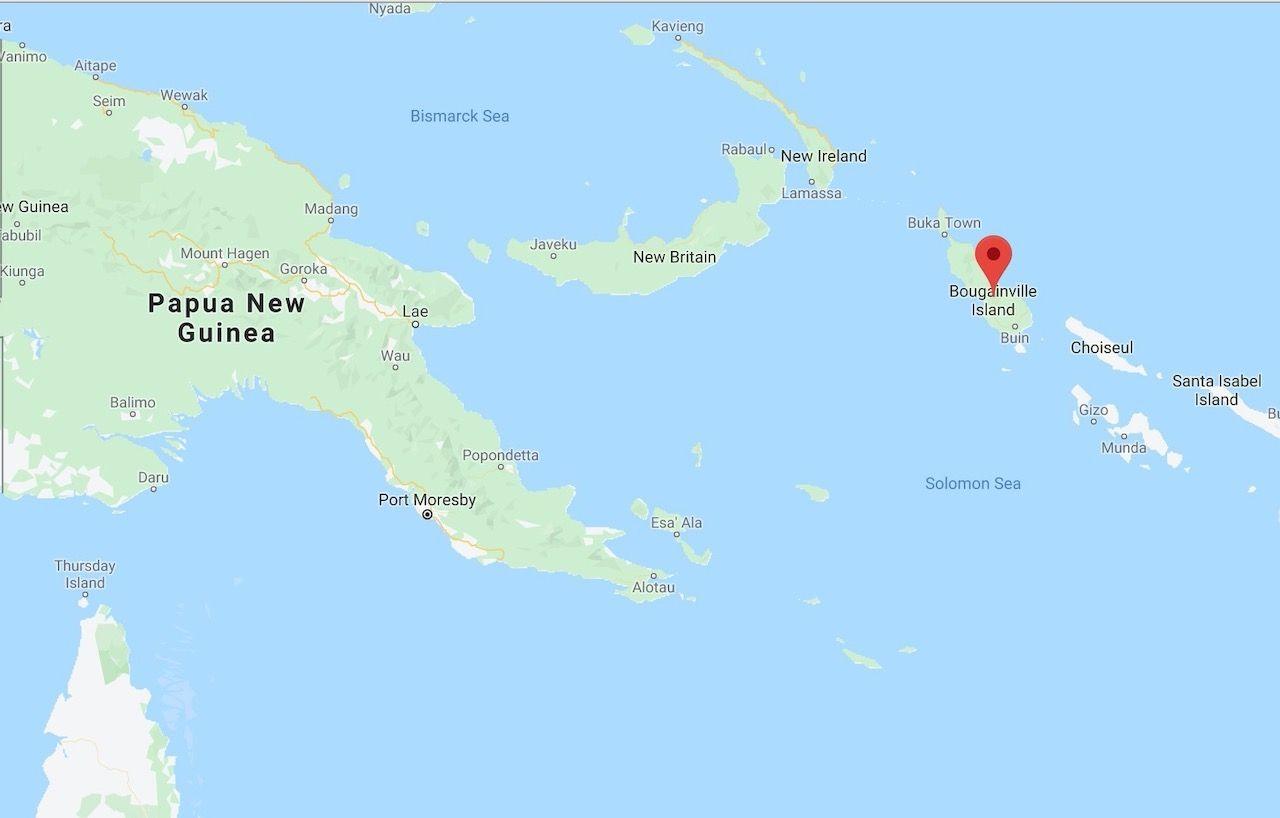Bougainville island map